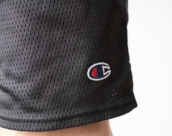 288c9673699eb Vintage 90s Champion Black Sports Shorts