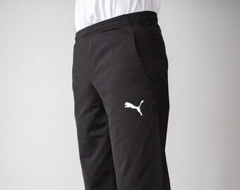 b6a9b9f62d39 Vintage 90s Puma Black Track Pants