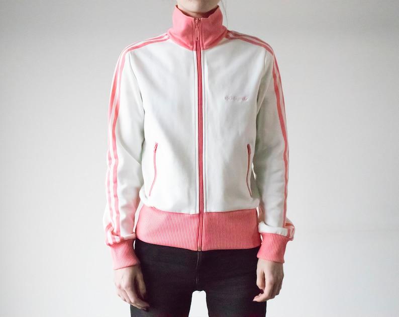 Vintage 90s Adidas WhitePink Track Jacket