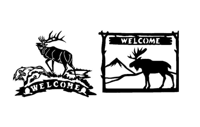 svg file, dxf file ( DXF Deer Welcome )