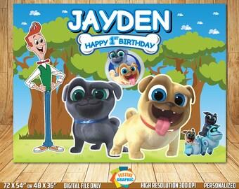 Puppy Dog Pals Backdrop, Puppy Dog Pals Birthday Banner, Puppy Dog Pals Invitation, Puppy Dog Pals Digital Backdrop