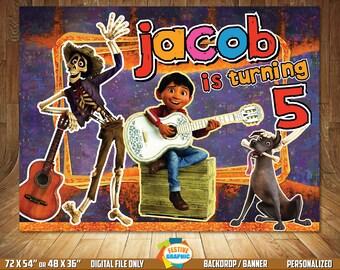 Coco Backdrop, Coco Birthday Backdrop, Coco Birthday Banner, Digital File