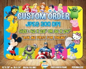 Custom Photo Booth Frame, Custom Birthday Frame, Custom Selfie Frame, Digital File