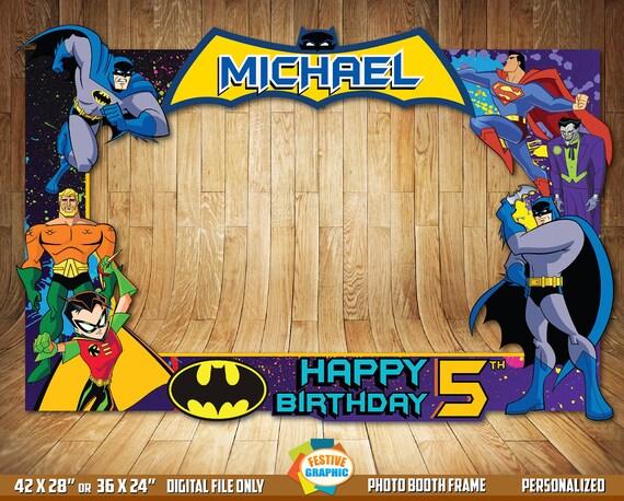 Batman Photo Booth Frame Batman Birthday Frame Batman Selfie Etsy