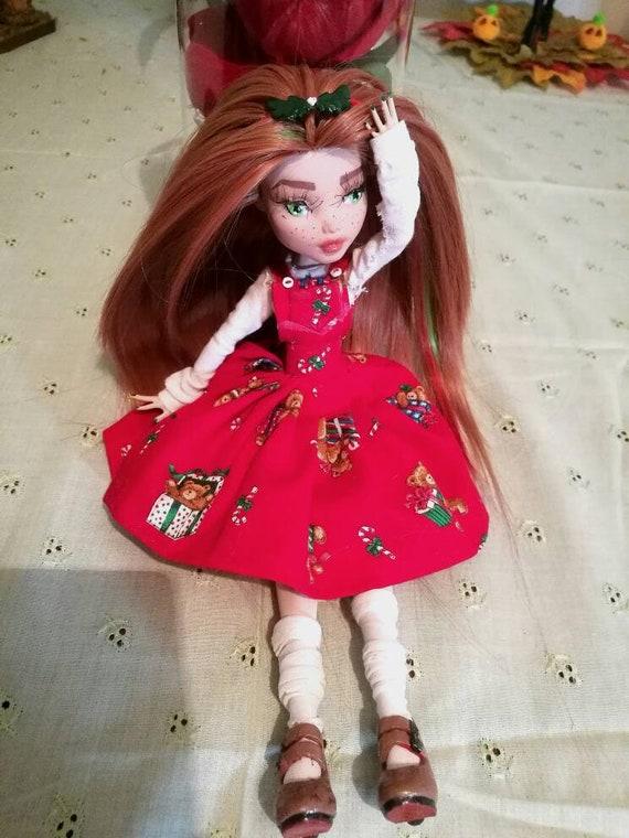 One of a kind monster high repainted doll noel etsy - Monster high noel ...