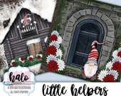 Christmas Paper, Digital Paper, Xmas Digital Paper, Paper Pack, Full Scene Illustration, Gnome Paper, Winter Paper, Christmas Gnome, Snow