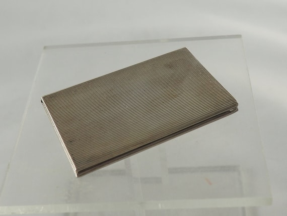 Vintage Solid Silver German Business Card Case or
