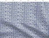 Blue Watercolor Waves Fabric - Zig Zag Waves Navy By Jillbyers - Modern Navy Watercolor Decor Cotton Fabric By The Metre by Spoonflower