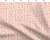 Pink Mud Cloth Fabric - Mudcloth No.4 In Blush By Elliottdesignfactory - African Tribal Geometric Cotton Fabric By The Metre by Spoonflower
