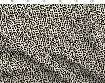 John Louden Fabric Ochre Leopard Print Cotton Elastane Printed Jersey Mustard Y