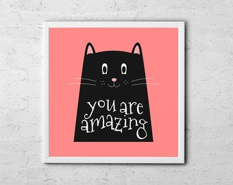 You Are Amazing - Baby Room Nursery Art Poster Print