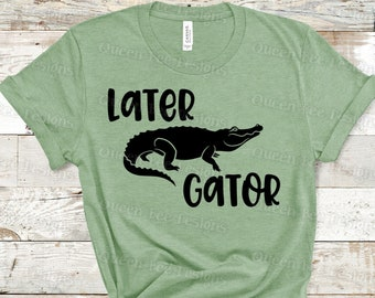 See Ya Later Alligator  Funny Couples Party Green Basic Men/'s T-Shirt