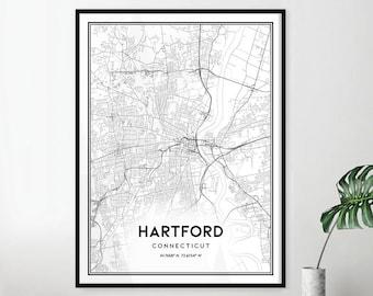 Hartford street map   Etsy on street map west haven connecticut, street map stamford connecticut, street map enfield connecticut, parks hartford connecticut, street map hartford illinois, street map newtown connecticut, street maps of hartford county, directions hartford connecticut,