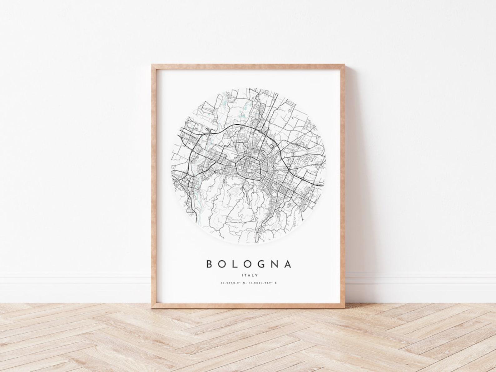 Stampa mappa Bologna Bologna Map Poster City Wall Art | Etsy