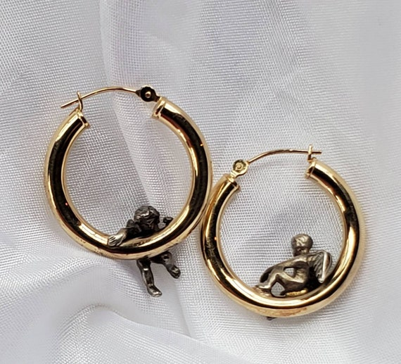 Adorable Vintage 14k Yellow Gold and Sterling Silv
