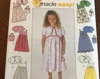1a7c2d06962 Vintage Simplicity  9051 c.1999 Sewing Pattern UNCUT   FF Child s Sundress