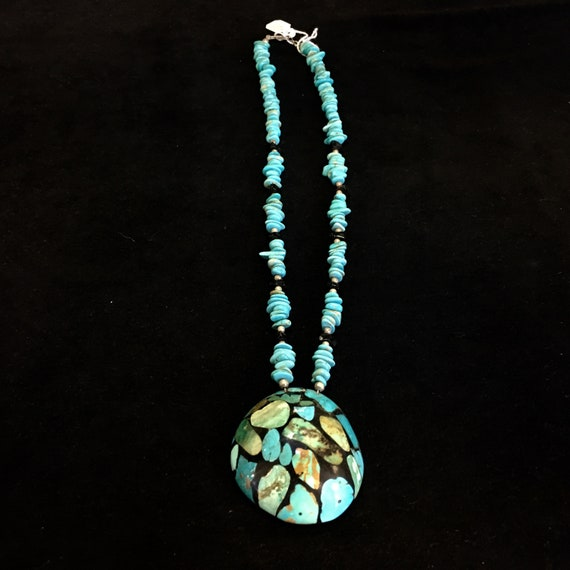 Turquoise shell with Turquoise necklace
