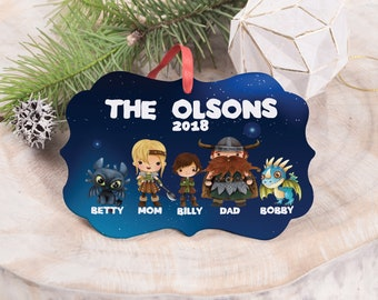 how to train your dragon family christmas ornament - How To Train Your Dragon Christmas