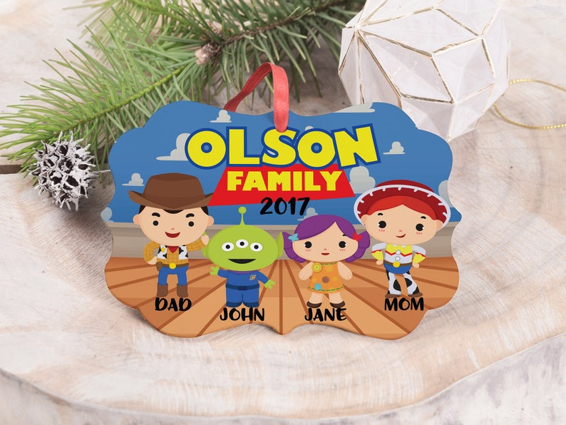 Toy Story Christmas Ornaments.Toy Story Family Christmas Ornament