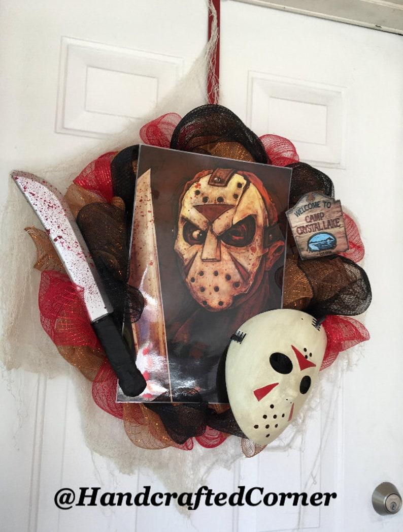 Friday The 13th Wreath Halloween Wreath Jason Wreath