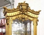 SOLD Incredible Ornately Carved Antique French Louis Empire Style Vitrine Curio