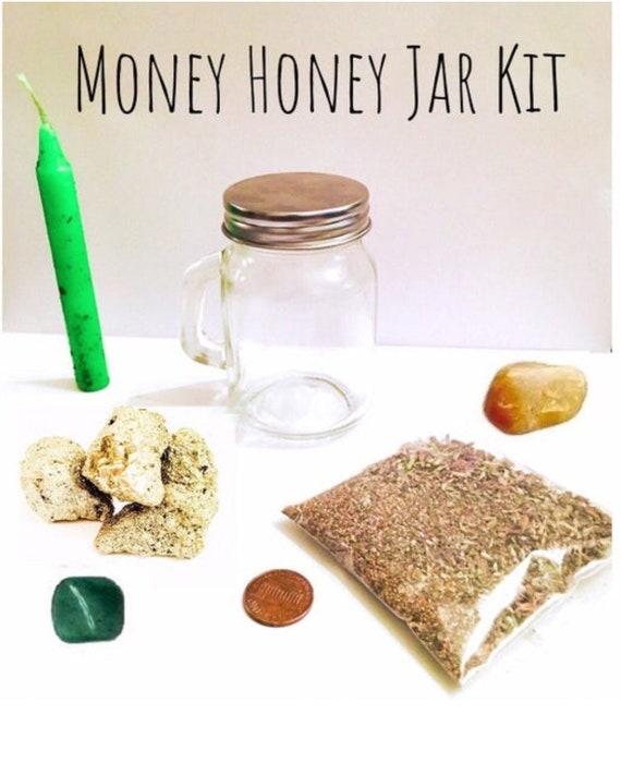 Honey Jar Kit Money Honey Jar Kit Prosperity Spell Kit Etsy