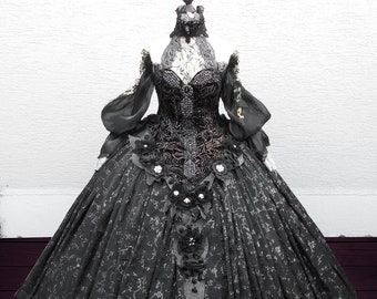 8926adf169c12 Kleid Festtag Robe Ballrobe Ballkleid Theater Oper Gothic Rokoko victorian  Unikat Medieval LARP Kostüm