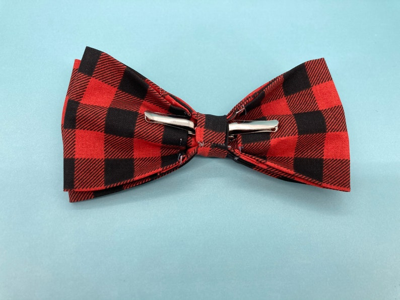 Matching Family Bow Tie Sets Pet Bow tie Men/'s Clip on Bow Tie Child/'s Buffalo Plaid Clip on Bow Tie Buffalo Plaid Men/'s Clip on Bow Tie