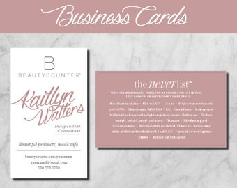 Beautycounter Business Cards Counterman Personalized for | Etsy