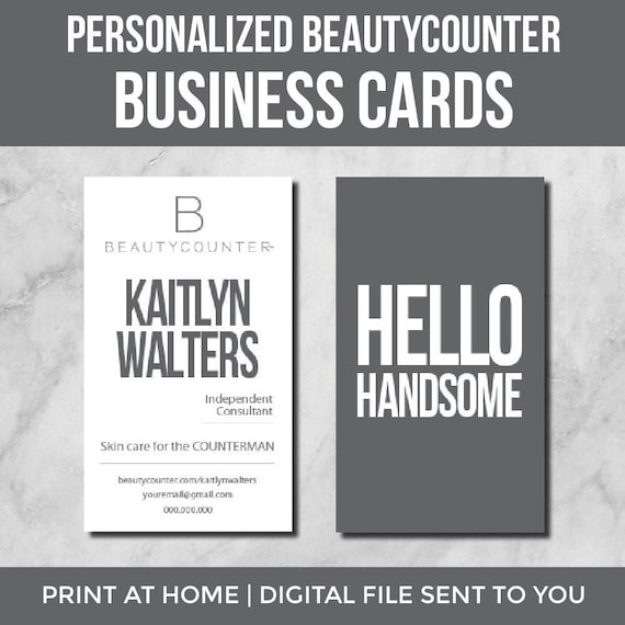 Beautycounter Business Cards | Counterman | Personalized for Independent  Consultants | Digital File | Printable
