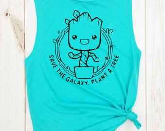 0e0c2a92aa7e2 Groot Save the Galaxy Plant a Tree muscle tank