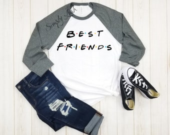 b1e89c7b5da Best Friends Logo Raglan tee
