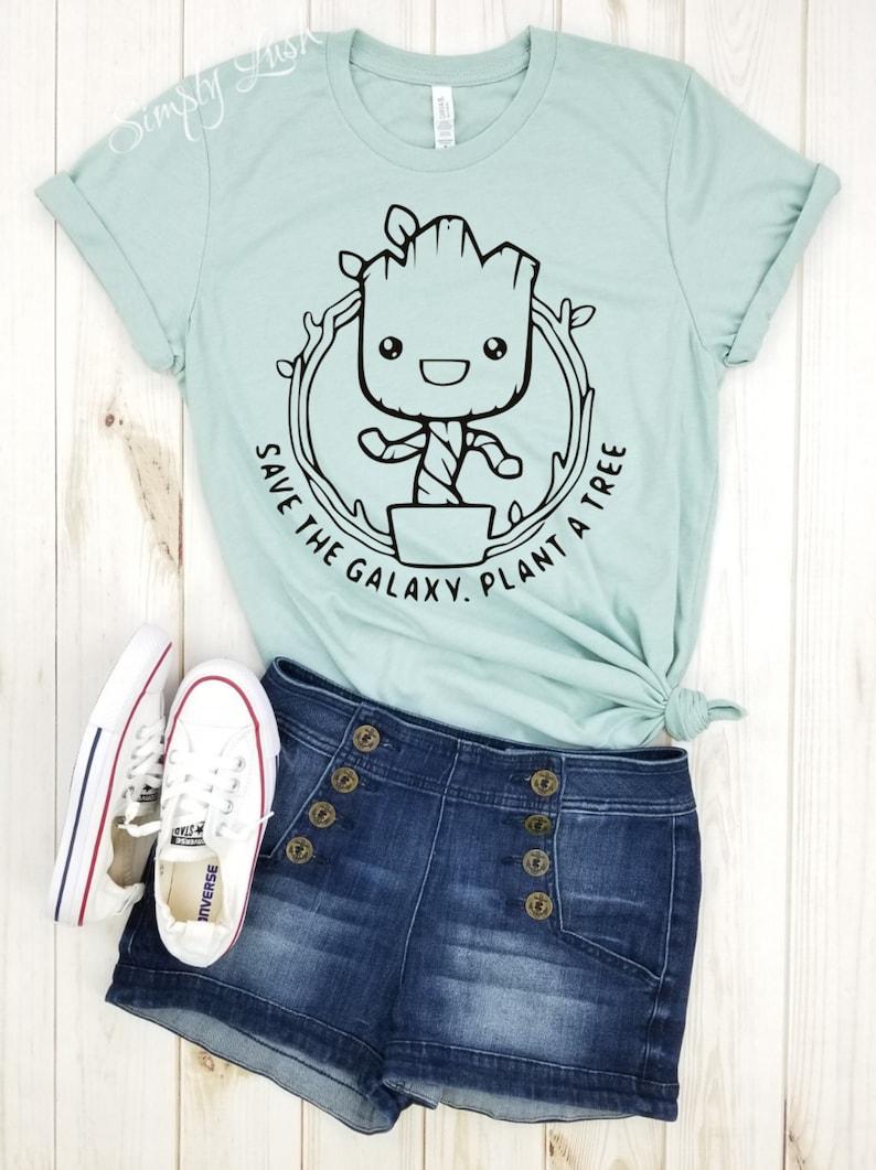 39a845f410601 Groot Save the Galaxy Plant a tree shirt disney shirt marvel