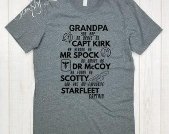 Star Trek Grandpa quote - shirt.