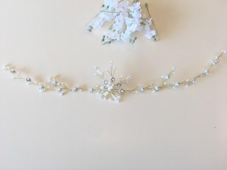 delicate hair vine bridal circlet floral hair piece bridal hair vine