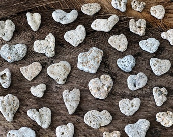 ce72c34f50 Natural Heart Shaped Stone Lot - 48