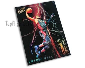 Dwyane Wade Custom Ultra Scoring Kings REFRACTOR Tribute Elegant Art Card  Maimi Heat Limited  23 sportscard fan gift idea 826ada0d6e342