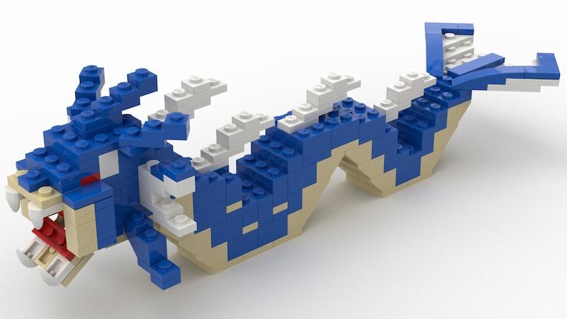 Gyarados (Pokemon) - Custom Lego® building instructions