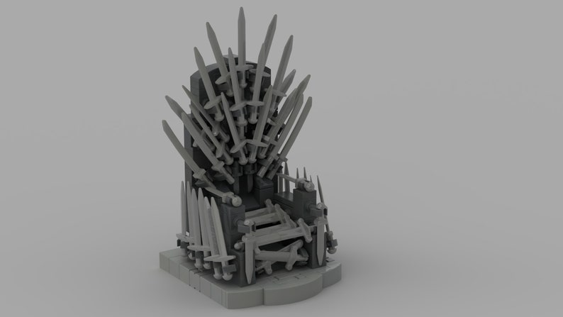 Game Of Thrones Iron Throne - Custom Lego® building instructions