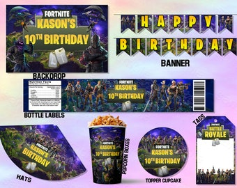 Fortnite Party kit Printable, Fortnite Party, Fortnite Birthday, Fortnite  Decorations, Fortnite Birthday Party, Fortnite Decorations