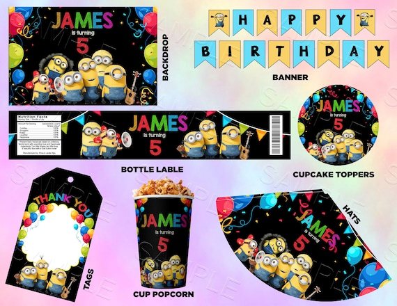 Minions Birthday Party Decorations Banner