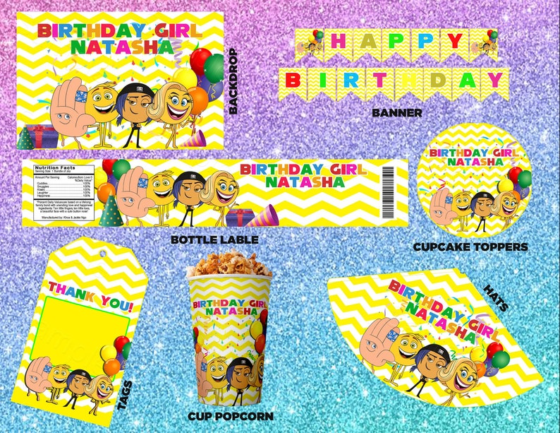 Emoji Birthday Party Decorations Banner