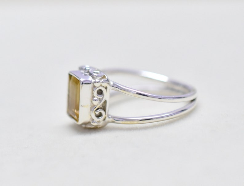 Boho Ring Silver Ring Citrine 5.5 US Silver Ring Birthstone Ring Christmas Sale Citrine Ring HANDMADE Ring Dainty Ring