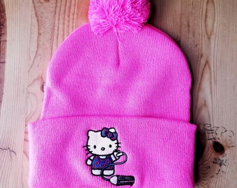 7f12d39d792 Your Pet Cat Hello kitty Beanie with PomPom
