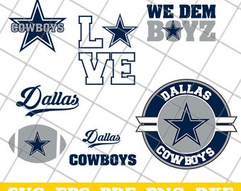 Dallas Cowboys SVG Files, CriCut Silhouette Cameo, Cowboys Logo, Cowboys Clipart, football SVG, dxf, eps, png