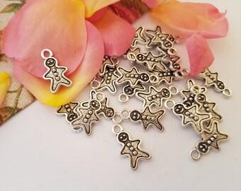 500g Packs. Snowflake Christmas Decorations//Charms//Beads//Pendants