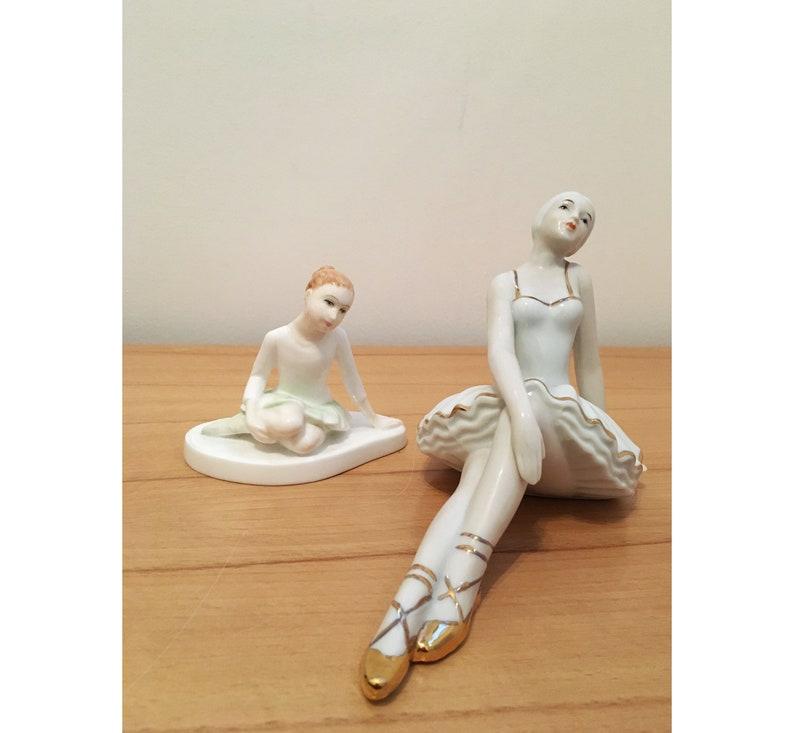 USSR porcelain ballerina and ROYAL DOULTON, soviet union russian porcelain  figurine,porcelain doll girl figurine, vintage russian porcelain