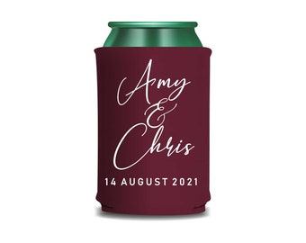 Neoprene Wedding Stubby Holder. Wedding Can Cooler. Personalised Stubby Holder. Wedding Favour. Wedding Party Gifts. FLAT PACK STUBBY #187