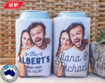 Wedding Stubby Holder with your photo. Full colour stubby holder. Neoprene. Personalised Stubby Holder. Flat Pack Stubby cooler. #20