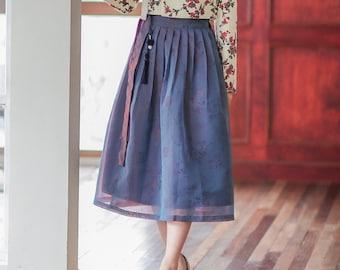 4d5dab28a6 Wrap skirt - Cat's Eye (Long)/Hanbok/Mini Hanbok Skirt/Romantic Mood/Korean  Style/캣츠아이긴길이
